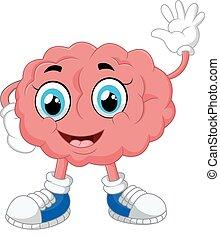 Brain cartoon illustration - vector illustration Brain...