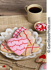 Valentines Day cookies - Valentines Day heart shaped cookies...