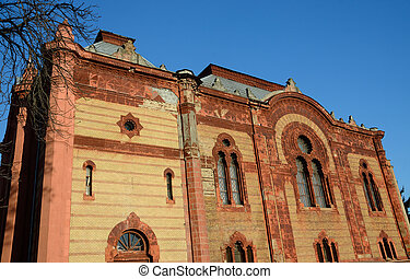 Beautiful old jewish temple (synagogue) in Uzhgorod,...