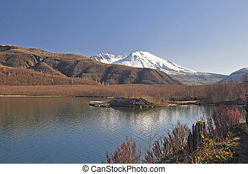 Mount Saint Helens in early winter