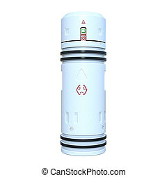 pressure vessel - 3D illustration of a young man
