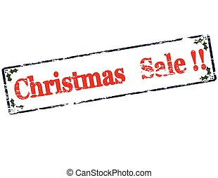 Christmas sale - Rubber stamp with text Christmas sale...