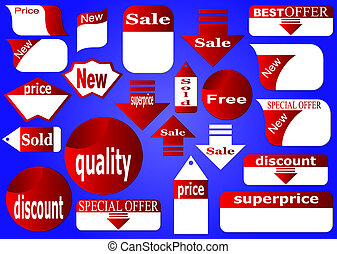 Complete set of stickers - Stickers of point-of-sale...