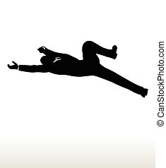 silhouette of businessman falling - EPS 10 Vector...
