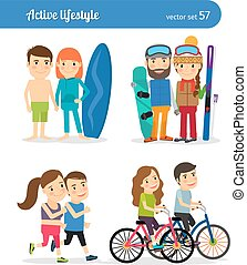 Active lifestyle people