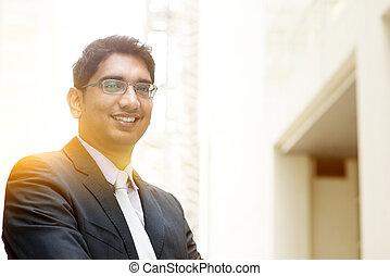 Asian Indian business man portrait - Portrait of Asian...