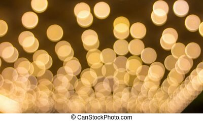 Blinking Out of Focus Lights Bokeh