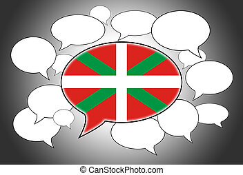 Speech bubbles concept - spoken language is that of Basque...