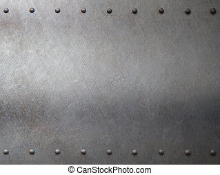 steel metal armour with rivets background