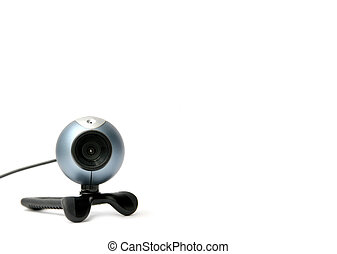 Digital webcam on white background