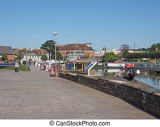 Lock gate in Stratford upon Avon - Canal lock gate in...
