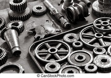 spare parts - picture of a set of spare parts
