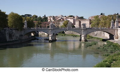 View towards the Ponte SantAngelo, Vatican and other...