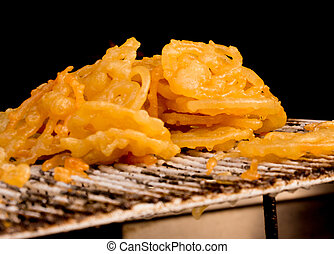 Indian sweet Jalebi freshly prepared - Freshly prepared...