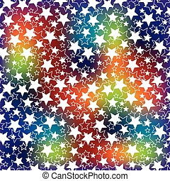 Holiday background. The rainbow blur and the stars