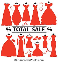 Red party dresses Silhouette Fashion sale