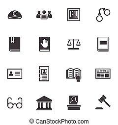 Law icon set.