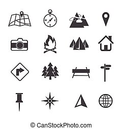 Map, Navigation and Location Icons set
