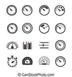 Circular Measurement Meter icons