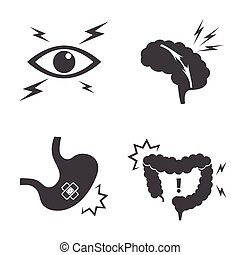 Health and Medical Icon set, Pain