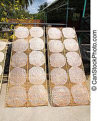 rice paper in mekong delta;vietnam