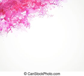 pink blots - Bright watercolor stains with pink blots