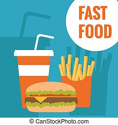 Fast food flat design