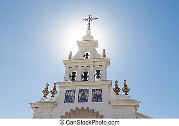 Facade of the church El Rocio, Spain.
