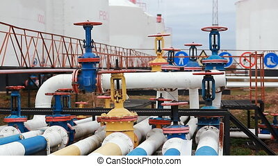 Colored Oil Pipeline