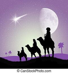 Nativity scene - illustration of Nativity scene