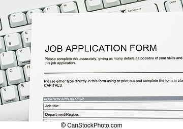 Job Application - A job application jobs sitting on a...
