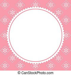 pink background with snowflakes