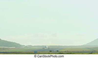 Airplanes taking off from Phuket - Airplane Airbus 320...