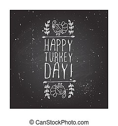 Happy turkey day - typographic element