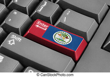 Enter button with Belize Flag