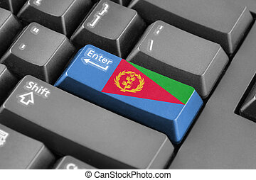 Enter button with Eritrea Flag
