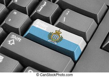 Enter button with San Marino Flag