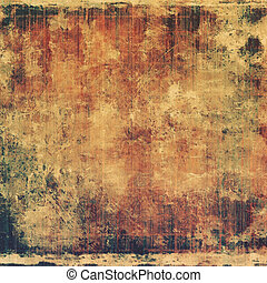 Abstract grunge background with retro design elements and...