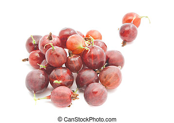 tasty red gooseberries - some tasty red gooseberries closeup...