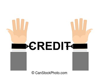 Hands shackled with chains credit Financial slavery Our cash...
