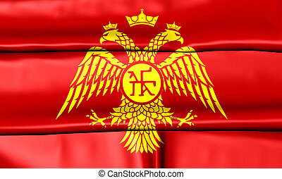 Byzantine Eagle, 3D Flag of Palaiologos Dynasty