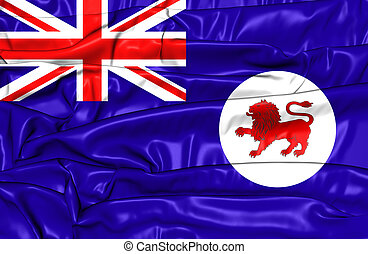 Flag of Tasmania, Australia - 3D Flag of Tasmania, Australia...