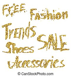 Glitter lettering Free, fashion, trends, sale,...