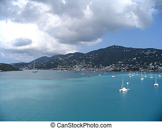 St. Thomas Island in Caribbean