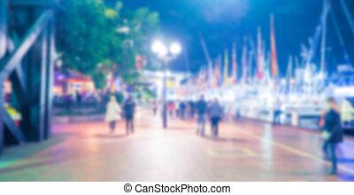 Abstract blur Street lights