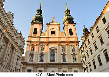 Vienna, Austria Jesuit Church in a sunny summer evening
