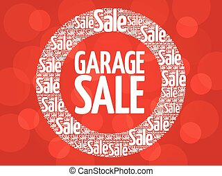 GARAGE SALE stamp vector words cloud, business concept...