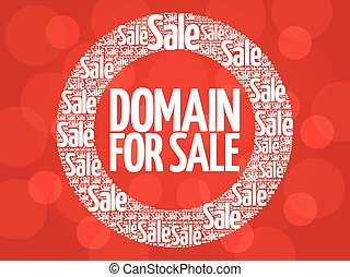 DOMAIN FOR SALE vector words cloud, business concept...