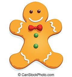 gingerbread man.eps - Gingerbread man Christmas cookie...