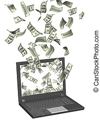 Earnings in the Internet - Conceptual image - earnings in...